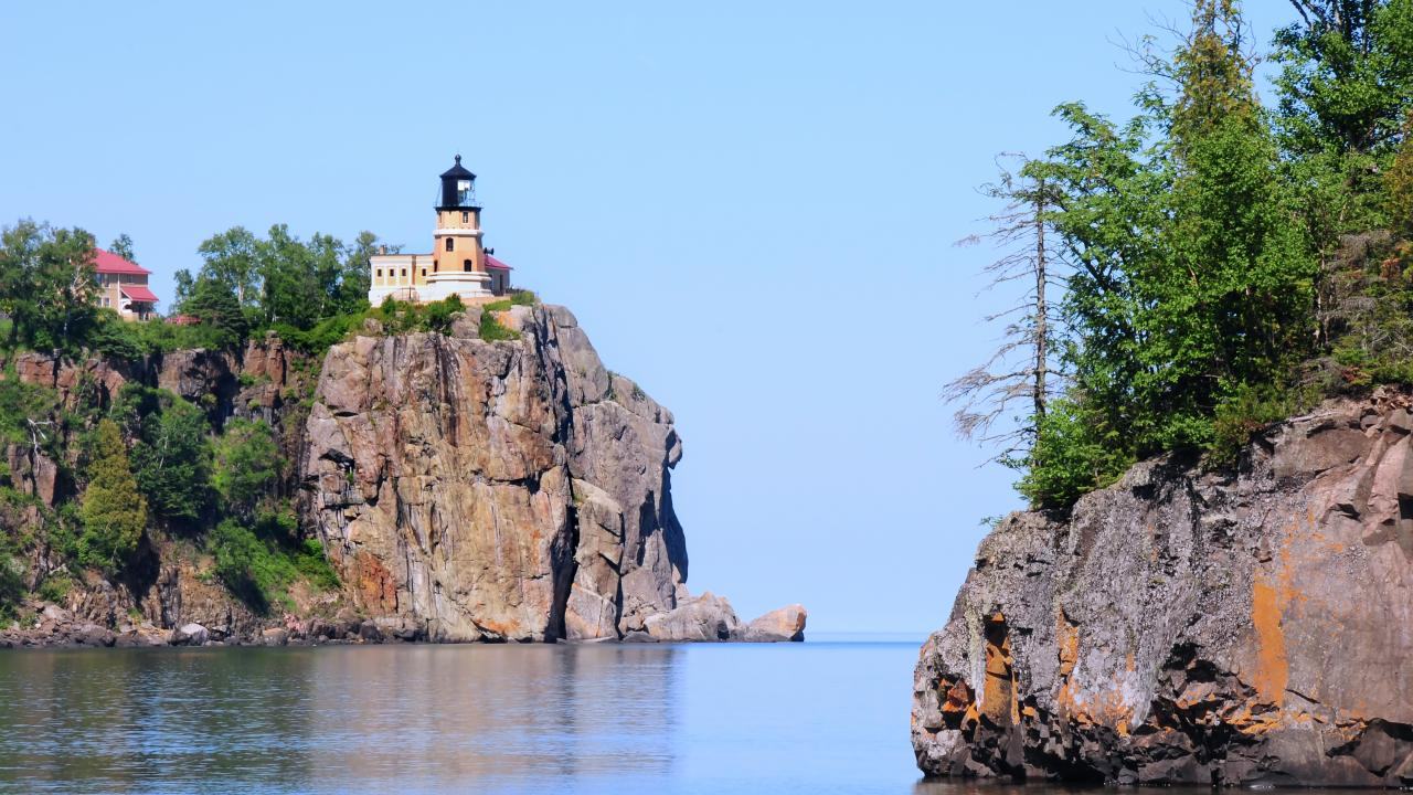 El Split Rock Lighthouse en Two Harbours, Minnesota