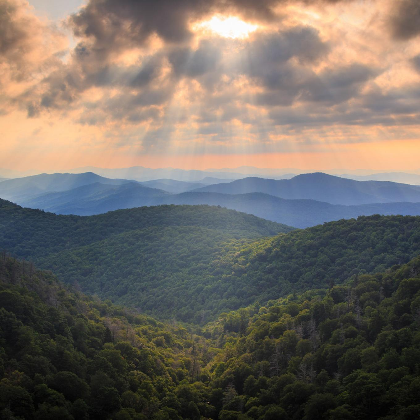Las Blue Ridge Mountains en Carolina del Norte