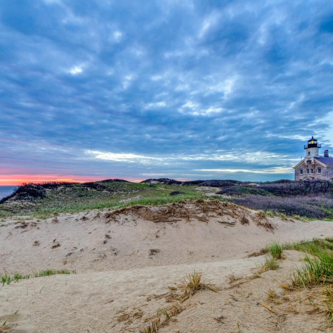 El Block Island North Light en Rhode Island