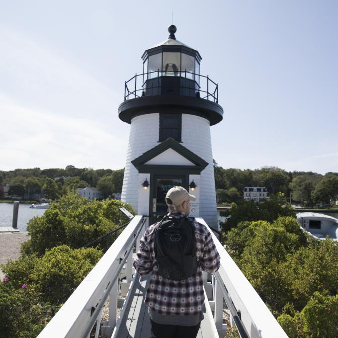 Explorando la costa en Mystic, Connecticut
