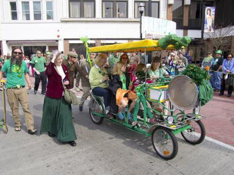 Family-friendly revelry at the annual St. Patrick's Day Parade
