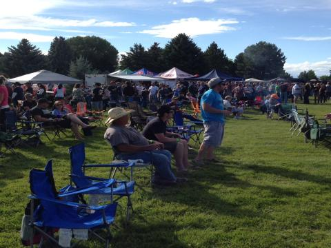 The crowd at the Yellowstone Beer Fest
