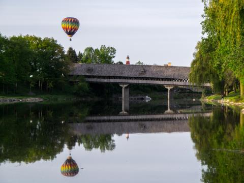 An entrant in the Balloons Over Bavarian Inn contest