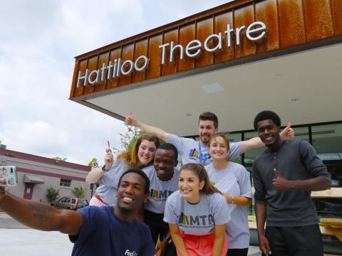 Group selfie before the Indie Memphis Film Festival