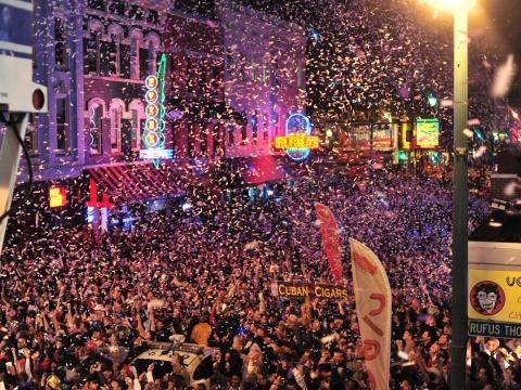 Beale Street erupts with fanfare on New Years Eve