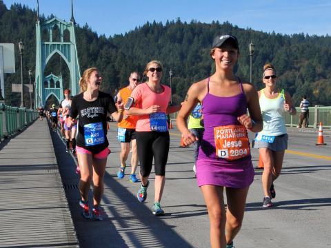Solo sonrisas en la carrera de Portland Marathon