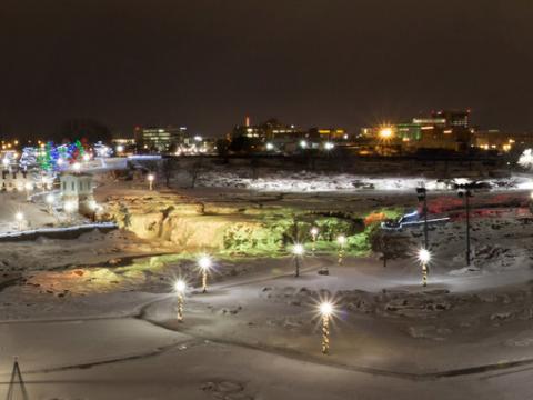 Illuminating Falls Park for the holidays