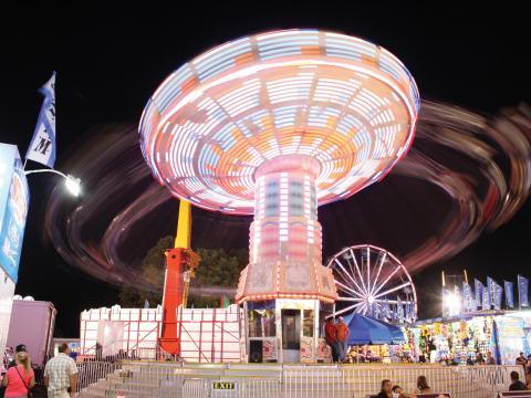 Uno de los movidos juegos de Dutchess County Fair