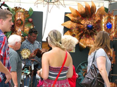 Strolling the art stalls at June Jubilee