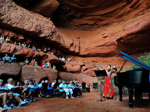 Natural outdoor theater at Moab Music Festival
