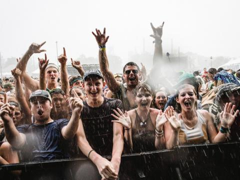 The happy crowd at Sloss Music & Arts Festival