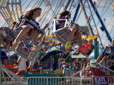 Volando por las alturas en la Illinois State Fair