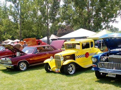 Classic cars on display at the Cache Valley Cruise-in