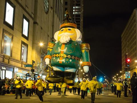Magnificent Mile Lights Festival tree-lighting parade on North Michigan Avenue