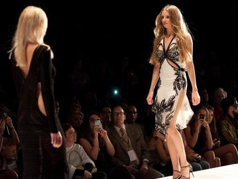 Miami Fashion Week in the Art Deco District of South Beach in Florida