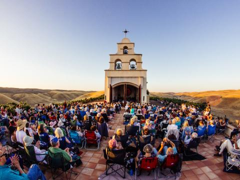 Festival Mozaic concert in the Serra Chapel in San Luis Obispo County, California