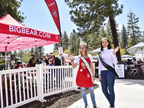 Participantes del concurso durante el fin de semana del Big Bear Grill & Chill