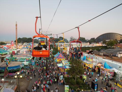 Teleférico de la North Carolina State Fair en Raleigh